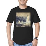Bell Rock Lighthouse by Turner Men's Fitted T-Shir