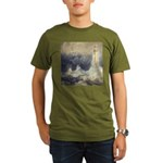 Bell Rock Lighthouse by Turner Organic Men's T-Shi