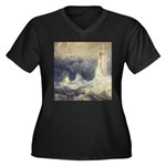 Bell Rock Lighthouse by Turner Women's Plus Size V