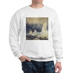 Bell Rock Lighthouse by Turner Sweatshirt