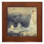 Bell Rock Lighthouse by Turner Framed Tile
