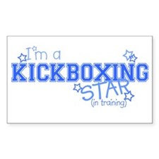 Kickboxing star Rectangle Decal