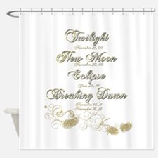 Twilight Saga Dates Shower Curtain