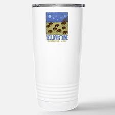 Yellowstone Park Night Sky Travel Mug