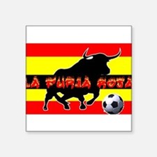 "La Furia Roja Square Sticker 3"" x 3"""