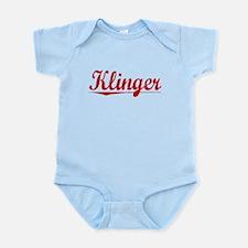 Klinger, Vintage Red Infant Bodysuit