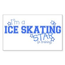 Ice Skating star Rectangle Decal