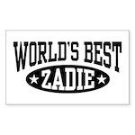World's Best Zadie Sticker (Rectangle)