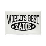 World's Best Zadie Rectangle Magnet