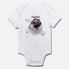 Keeshond Baby Light Bodysuit