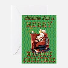 Santa and the Mrs. Masonic Card Greeting Card