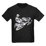 Snowmobile Kids T-shirts (Dark)