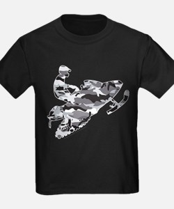 Camouflage Grey Snowmobiler T