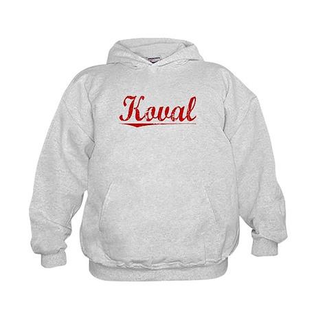 Koval, Vintage Red Kids Hoodie