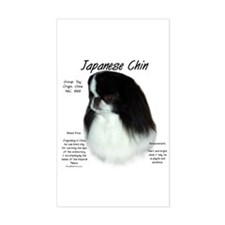 Japanese Chin Rectangle Decal