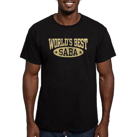 World's Best Saba Men's Fitted T-Shirt (dark)