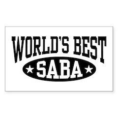 World's Best Saba Decal