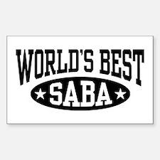World's Best Saba Sticker (Rectangle)