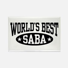 World's Best Saba Rectangle Magnet