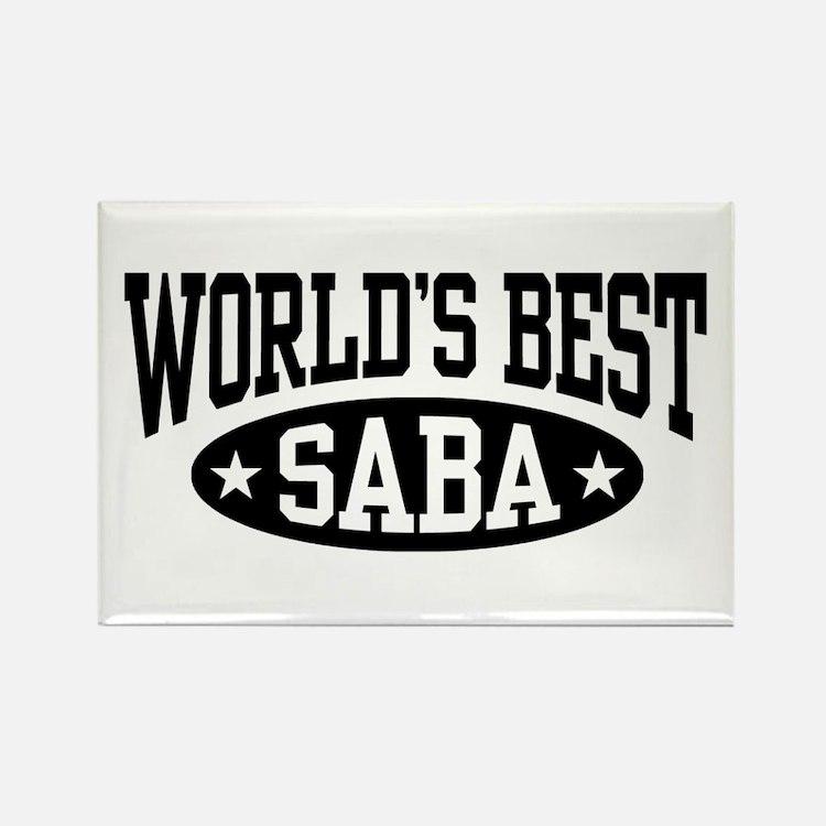 World's Best Saba Rectangle Magnet