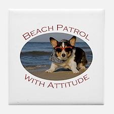 Beach Patrol with Attitude Tile Coaster