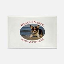 Beach Patrol with Attitude Rectangle Magnet