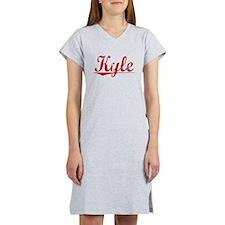 Kyle, Vintage Red Women's Nightshirt