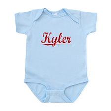Kyler, Vintage Red Infant Bodysuit