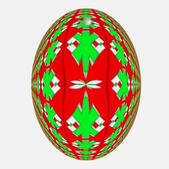 Christmas Ball Ornament (Oval)