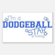 Dodgeball star Rectangle Decal
