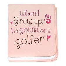 Kids Future Golfer baby blanket