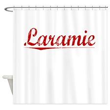Laramie, Vintage Red Shower Curtain