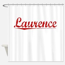 Laurence, Vintage Red Shower Curtain