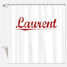 Laurent, Vintage Red Shower Curtain