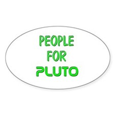 People for Pluto (G) Oval Decal