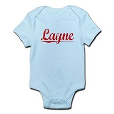 Layne, Vintage Red Infant Bodysuit