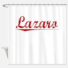 Lazaro, Vintage Red Shower Curtain