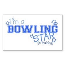 Bowling star Rectangle Decal