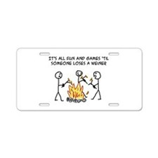 Fun And Games Aluminum License Plate
