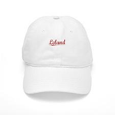 Leland, Vintage Red Baseball Cap