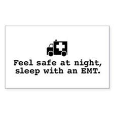 Feel Safe Sleep with EMT Rectangle Decal
