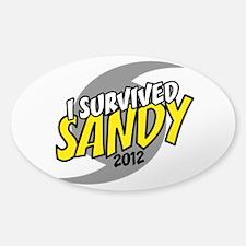 I Survived SANDY Sticker (Oval)