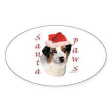 Aussie Paws Oval Decal