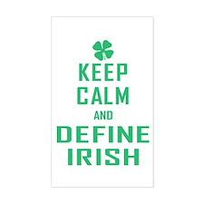Keep Calm Define Irish Decal