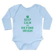 Keep Calm Define Irish Long Sleeve Infant Bodysuit