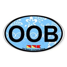 Old Orchard Beach ME - Oval Design. Decal