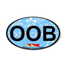Old Orchard Beach ME - Oval Design. Wall Decal