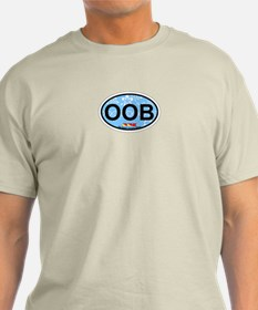 Old Orchard Beach ME - Oval Design. T-Shirt