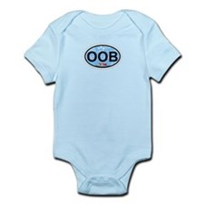 Old Orchard Beach ME - Oval Design. Infant Bodysui