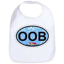 Old Orchard Beach ME - Oval Design. Bib
